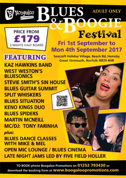 .@kazhawkins plays the #Blues &amp; Boogie #festival - get in! Event including accommodation, meals &amp; all music! @BoogalooPromo<br>http://pic.twitter.com/19wJejbYjB