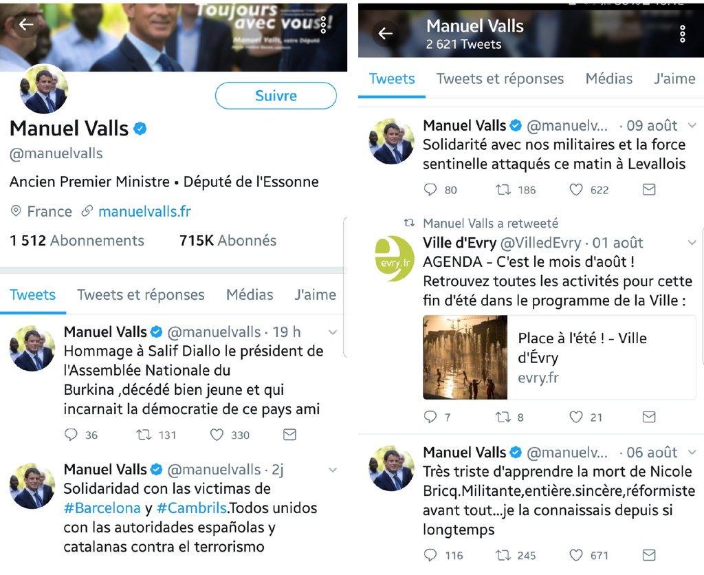 Tiens, je viens de constater que M.#Valls n'a tjrs rien dit sur #Charlottesville & ses fachos #Nazis. J'ai cherché.., pas un mot, c curieux.pic.twitter.com/kEqols9BfN