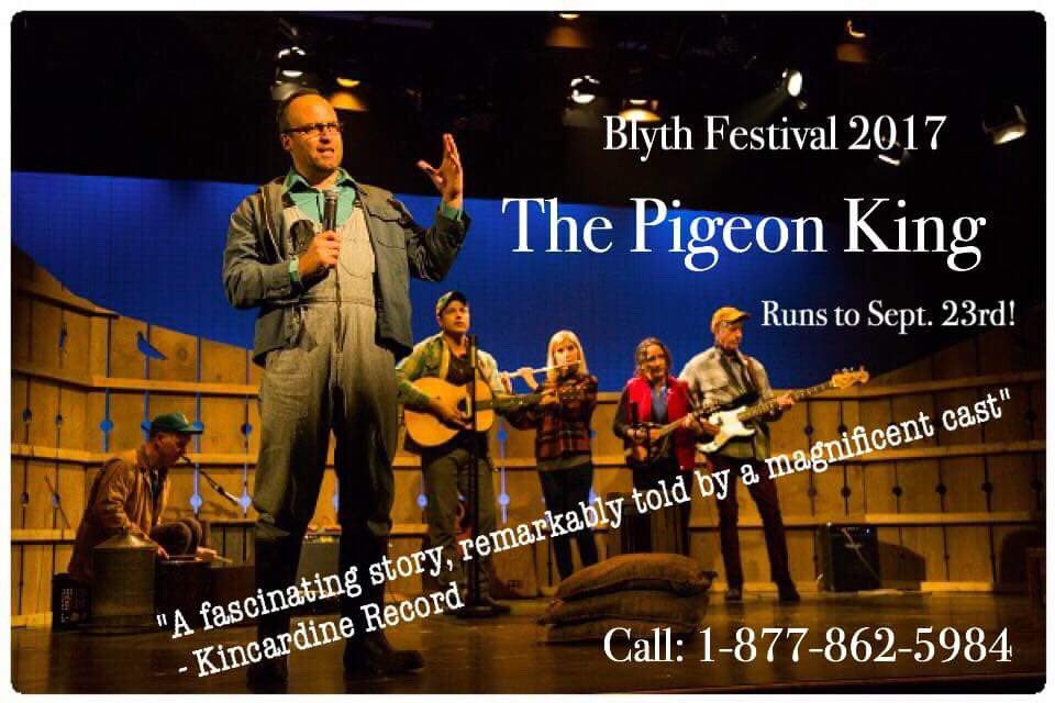 Bonanza wknd continues w/ a 2pm performance of THE PIGEON KING! Shows continue until Sept 23rd.  http://www. blythfestival.com  &nbsp;   #bfPigeon #BONANZA <br>http://pic.twitter.com/nsflW75Akh