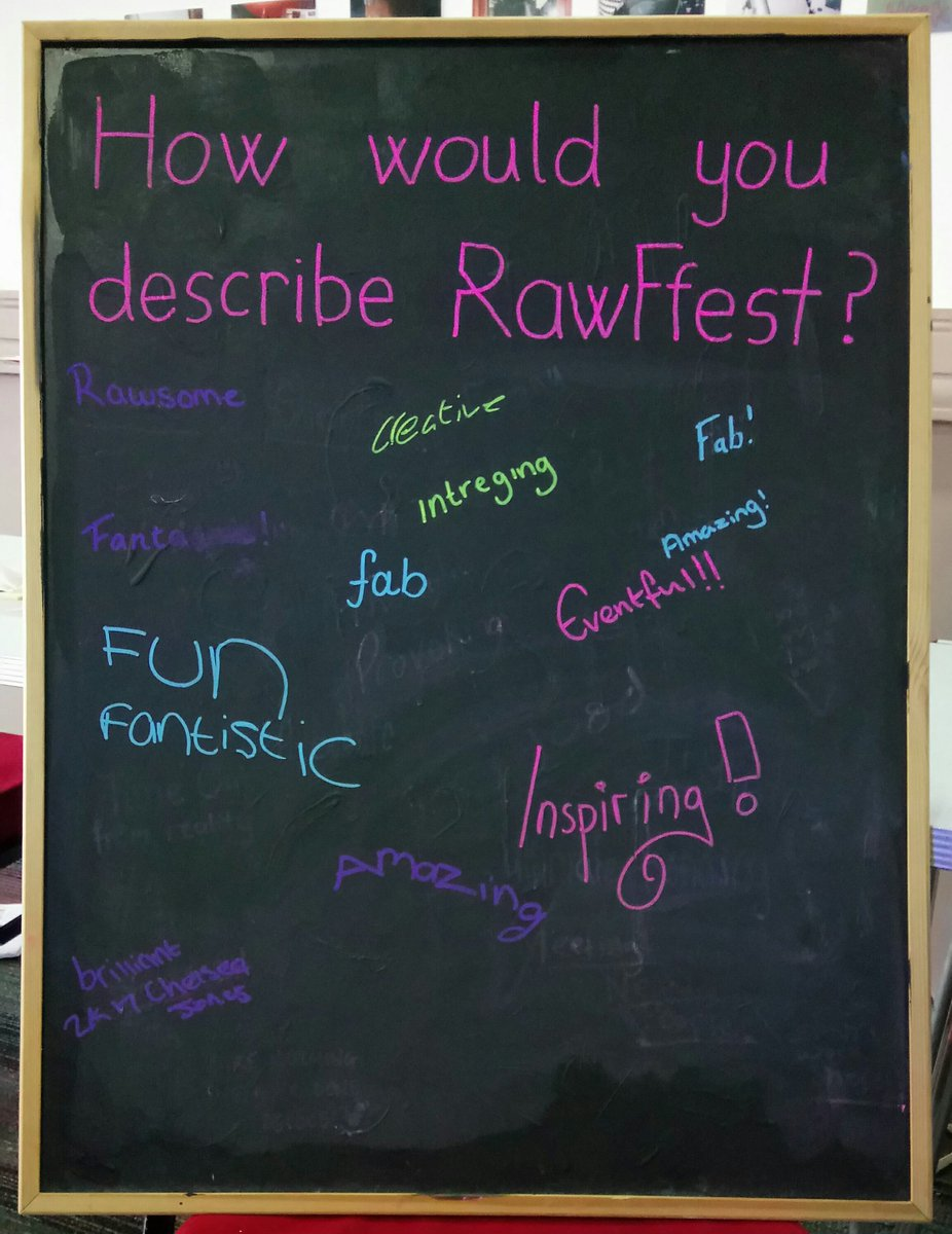 And now some feedback from the visitors, participants and performers. #Rawffest2017 #evaluation <br>http://pic.twitter.com/K8vFUrwDHr