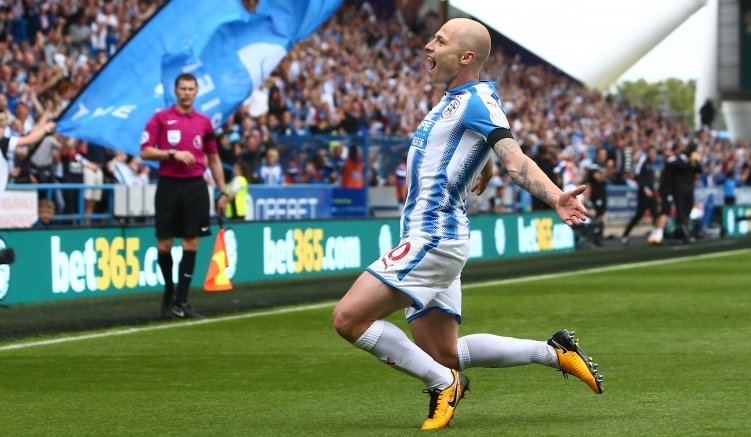 The moment you realise you've scored Huddersfield's first ever home go...