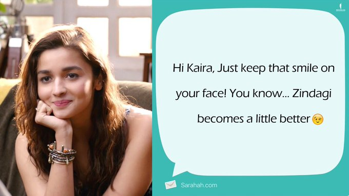 Kaira has received a special message... Umm, we mean #Sarahah... 😉 Can you guess who might have sent it? https://t.co/ypHgn622b0