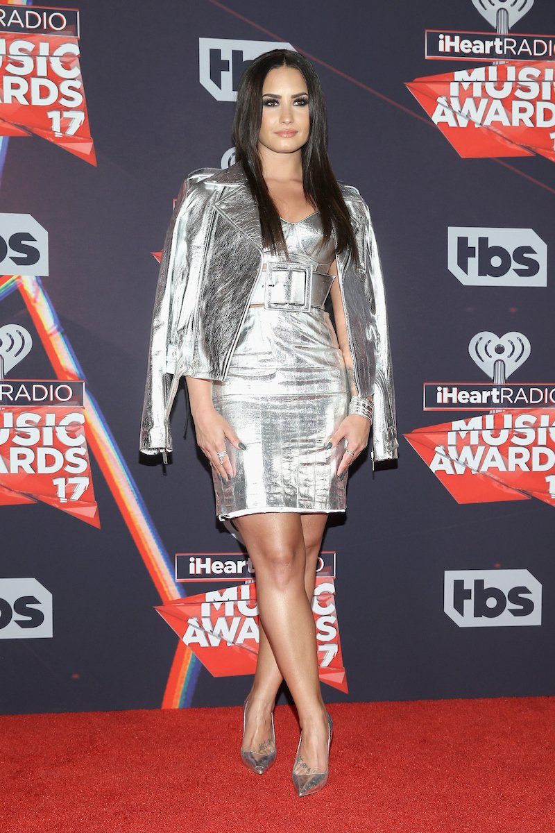 Demi's outfit was absolutely everything at our 2017 #iHeartAwards  #HappyBirthdayDemi   (📷: Getty)