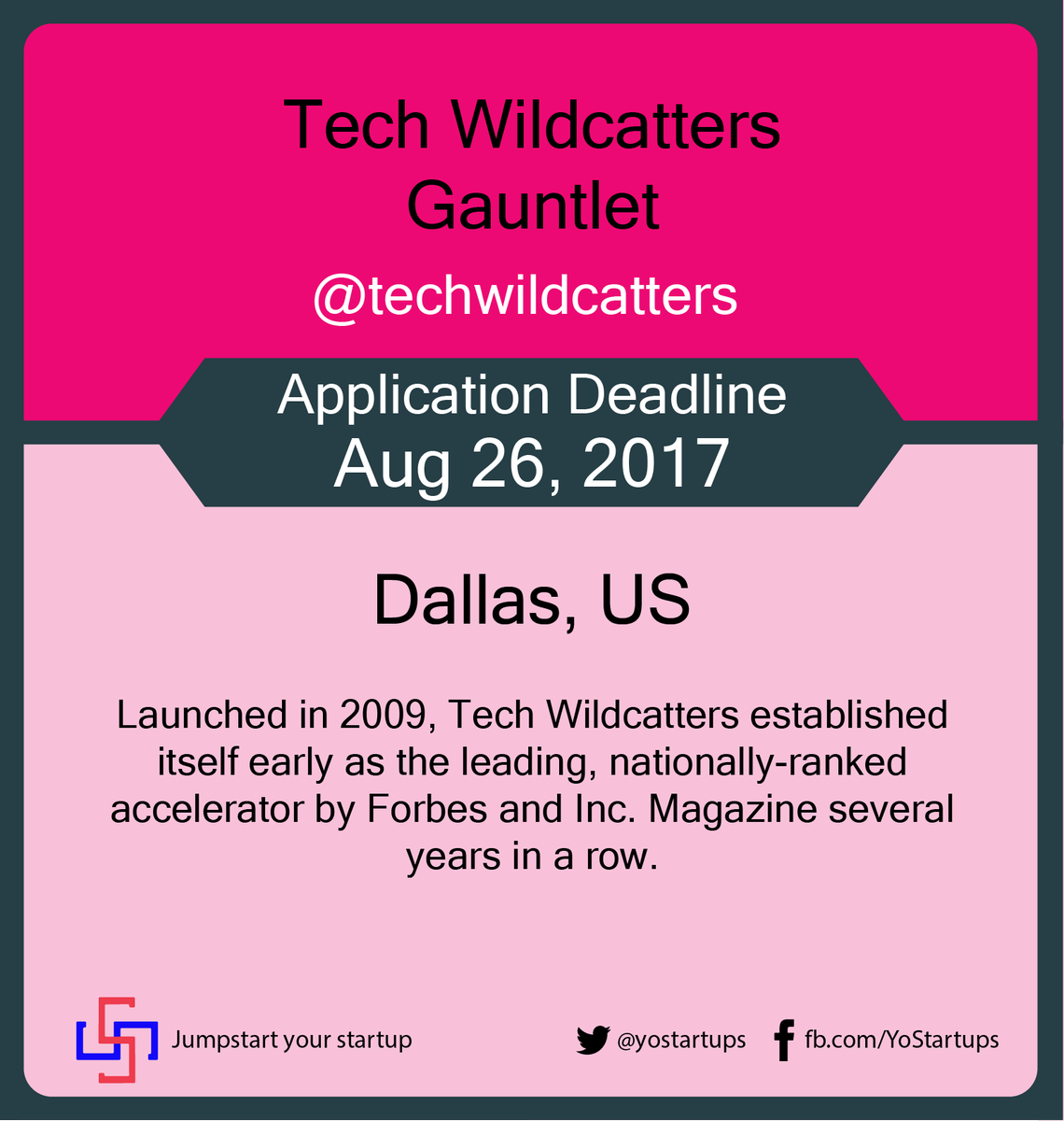 Checkout @techwildcatters #startup #accelerator fueled by data, milestones and ambition #YoStartups  https:// goo.gl/p8oTqT  &nbsp;  <br>http://pic.twitter.com/XMu1iKzoA7