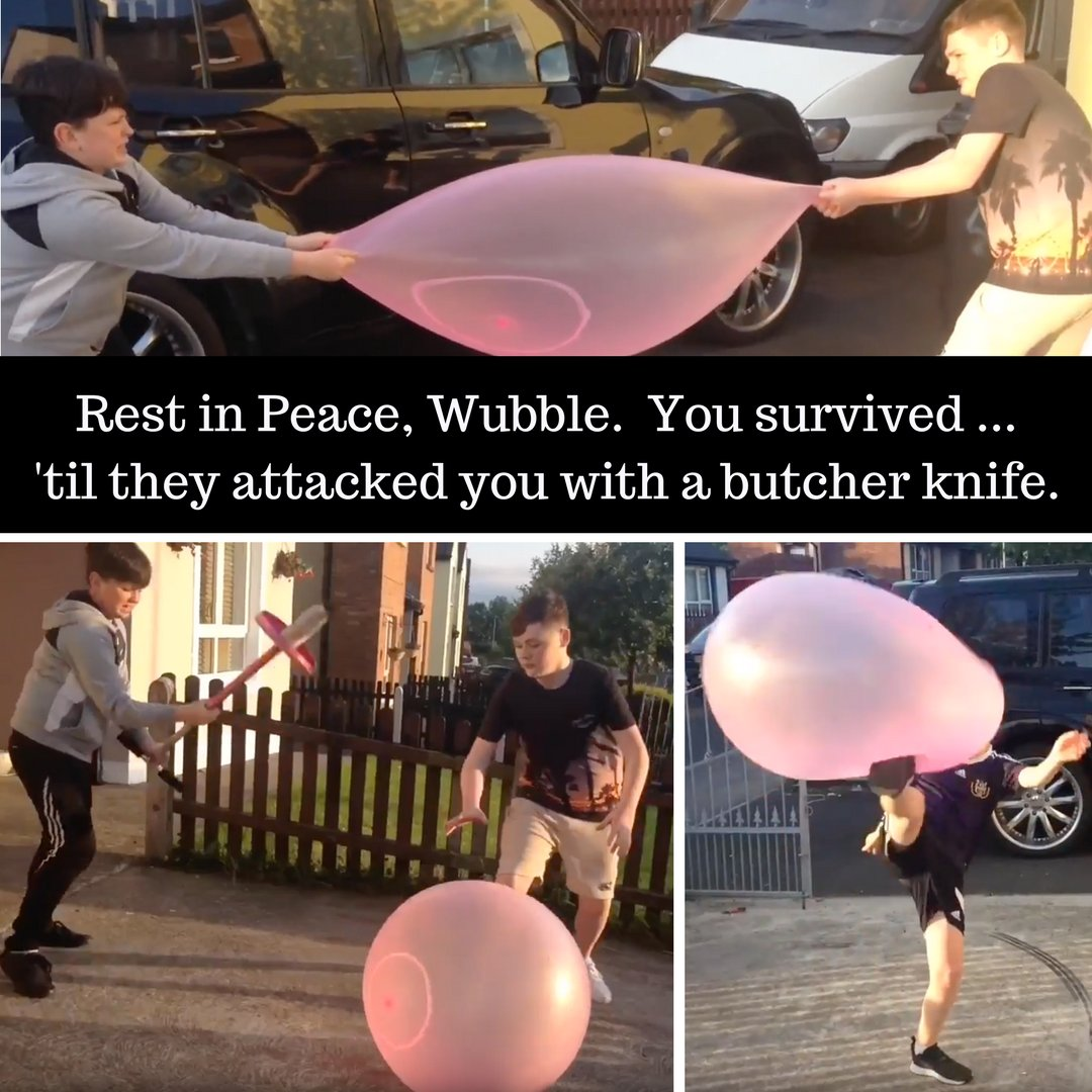 Irish lads tried hard to pop #SuperWubble. They even beat it with a pogo stick.  http:// bit.ly/2uGGnR3  &nbsp;   #challenges #stunt #stunts #bubble <br>http://pic.twitter.com/rC9SJu0rww