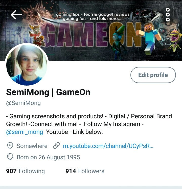 At 914 followers! Trying to push as close to 1k tonight as i can!   Any shoutouts/help is appreciated! #Gamer #youtuber  @AlienRTs @HyperRTs<br>http://pic.twitter.com/6AgevjRdDW