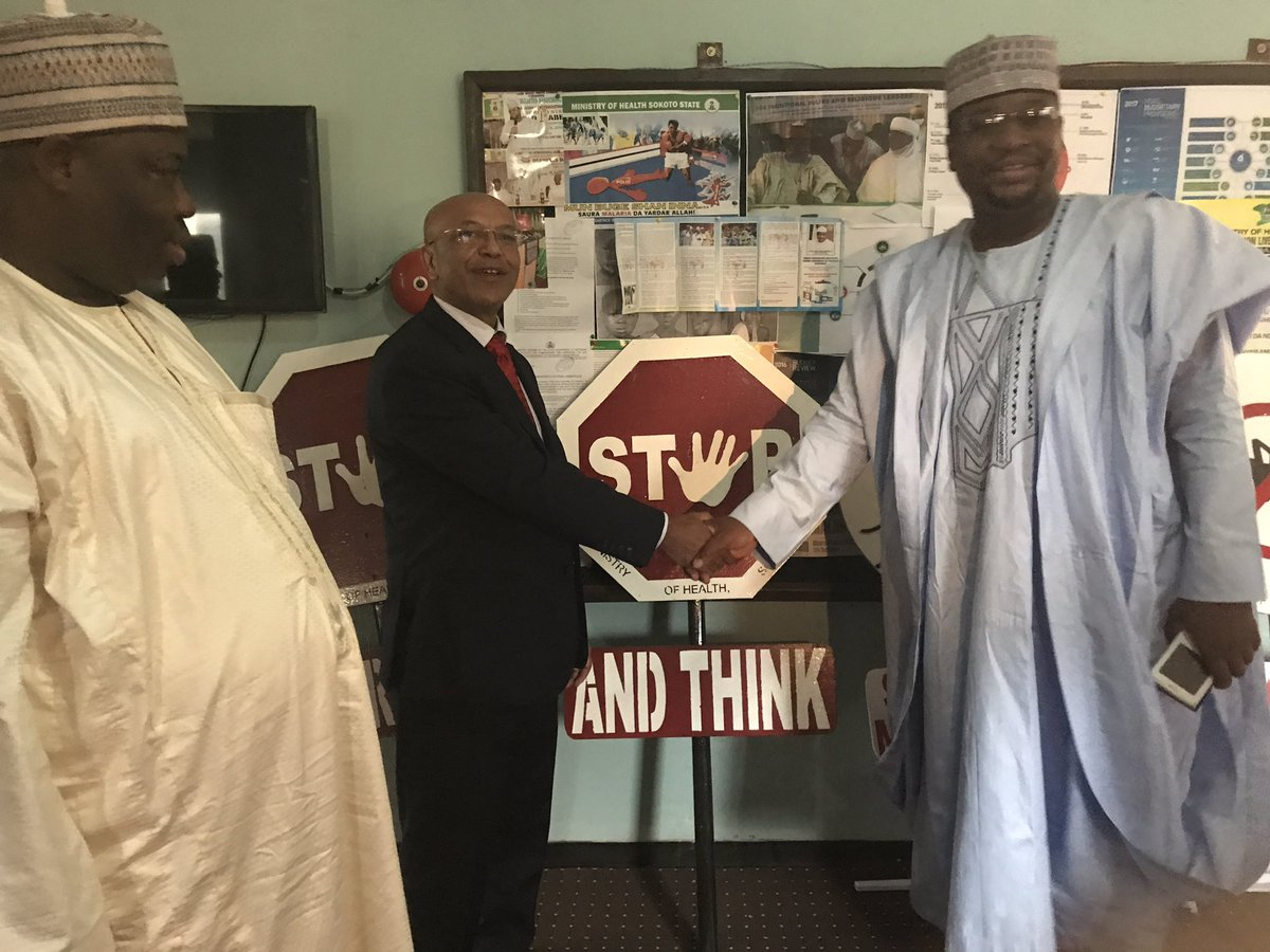 Brief but fuitful conversation w/Health Commissioner, Hon Dr BS Kakale in Sokoto. #WHO appreciates z partnership n z enabling environment. <br>http://pic.twitter.com/yMjcUgxaYZ