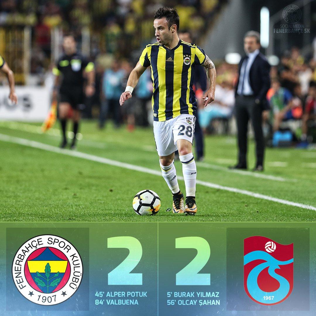 Maç Sonucu   Fenerbahçe 2-2 Trabzonspor...