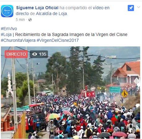 #Loja / #EnVivo    Recibimiento de la Sagrada Imagen de la #VirgenDelC...