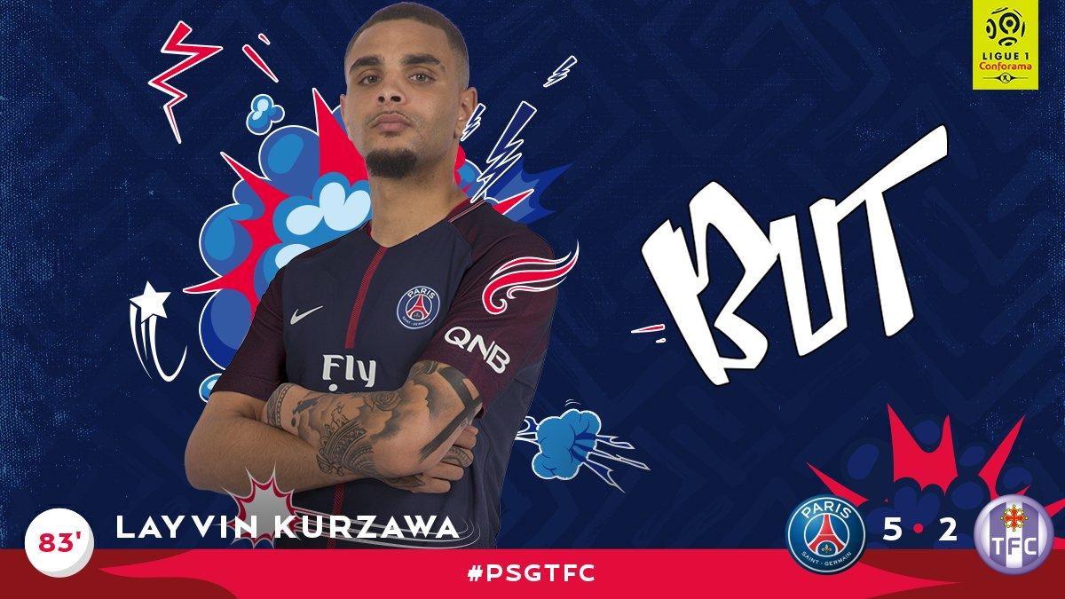 BUUUUUT BUUUUUT BUUUUUT DE @layvinkurzawa ! 5-2 pour Paris ! #PSGTFC h...