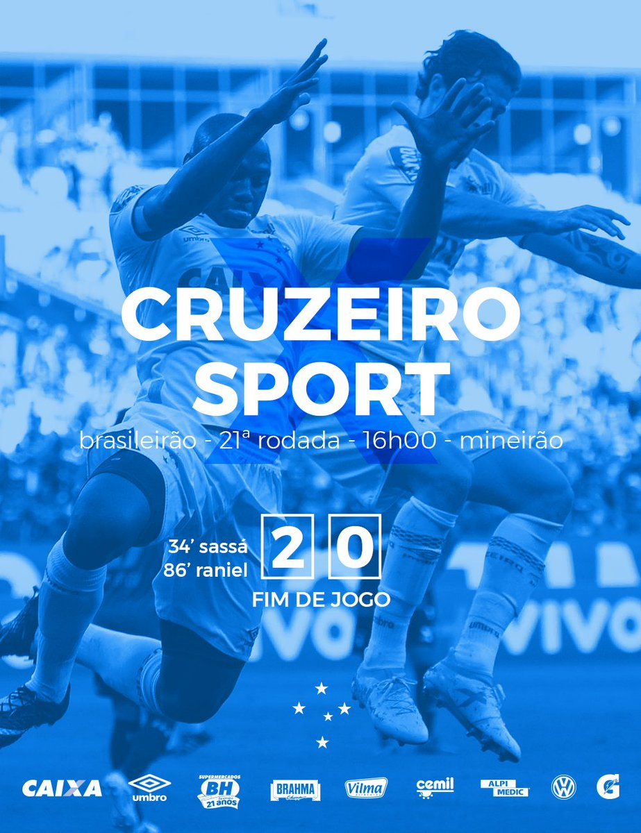 2T (2-0) - 90'(+4) - FIM DE JOGO, NO @MINEIRÃO! VITÓRIA DO #CRUZEIRO!...