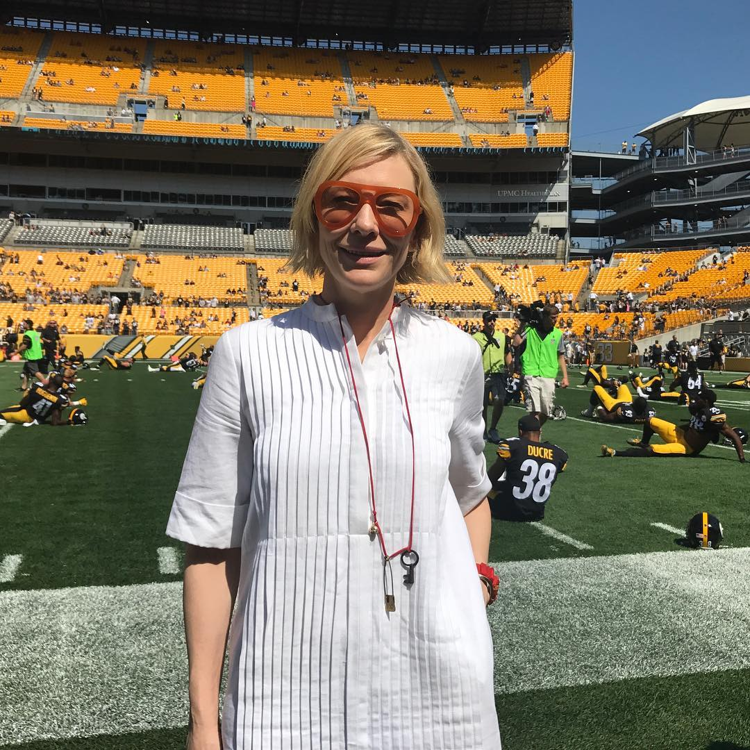 #CateBlanchett - #Steelers Game Today #Football #Pittsburgh  Source:  https://www. instagram.com/p/BYBxsGiAakJ/  &nbsp;  <br>http://pic.twitter.com/JnbfIa6j8s