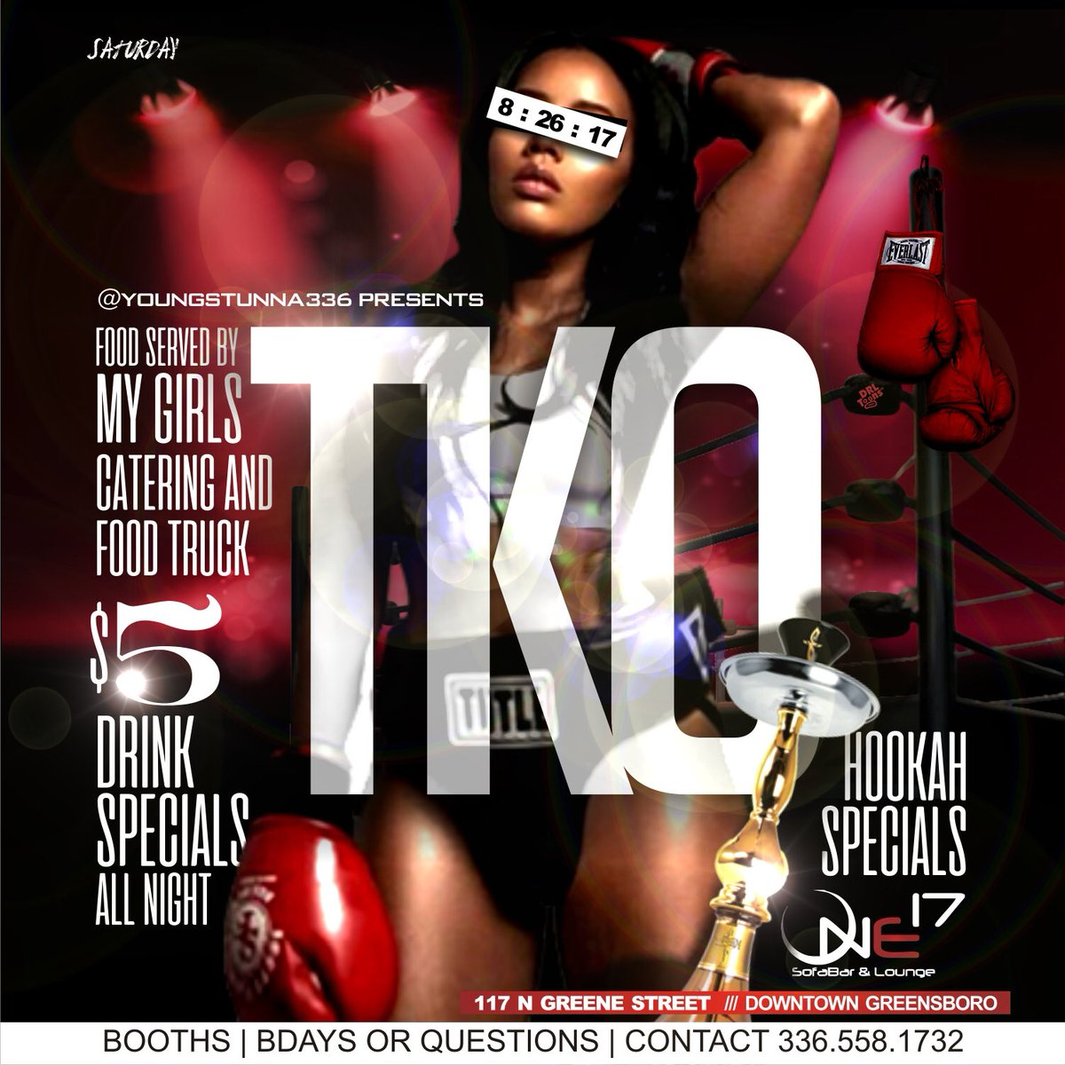 Y&#39;all know what next Saturday is!!#TKO #TheMainEvent  $5 drinks specials ALL NIGHT | Hookah Specials  Food will be available this Saturday!<br>http://pic.twitter.com/CLucI3ChoW