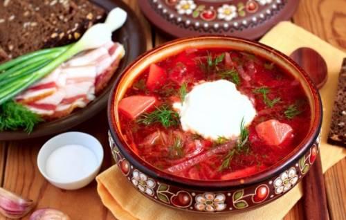 Рецепт борща украинского с пампушками