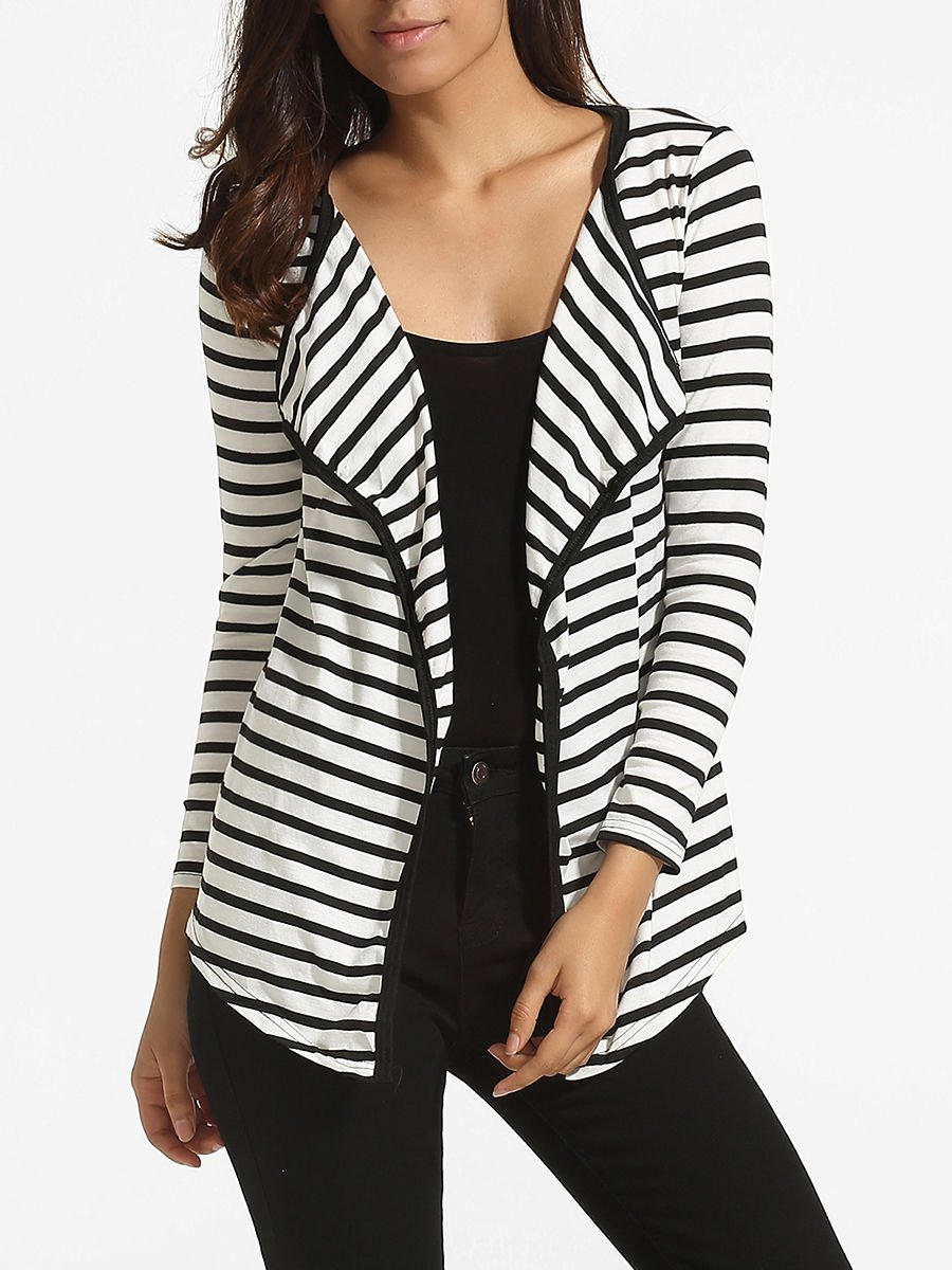 Lapel Knit Striped Cardigan     http:// ow.ly/KwcL30euJ70  &nbsp;   #flockbn #87RT #fashion #fashionblogger #smartsocial #likeforlike #RT4RT #RT #SNRTG<br>http://pic.twitter.com/o7mepCCp84