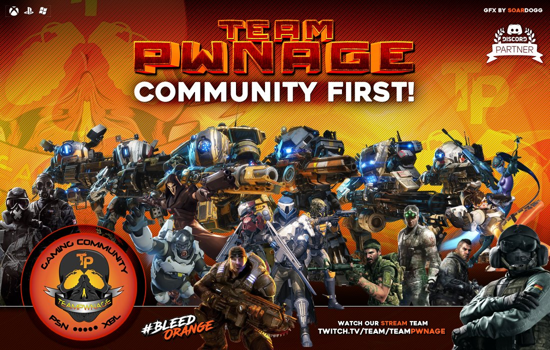 If you are a @TeamPwnage member and love it Retweet this!!!! #TPwnCommunity1st #TPwn https://t.co/RWfDtoPWDw
