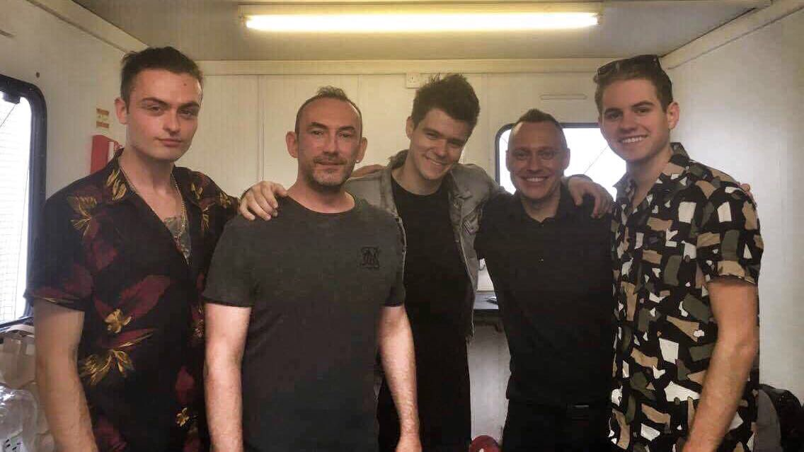 Danny with @TakenOfficial #thebaystage https://t.co/F1VWGGtTt9