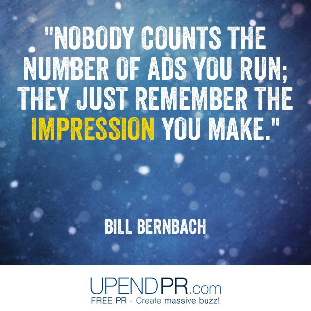 For #startup #success, strive to leave an impression. #marketing #sales #advertising #PR #publicity<br>http://pic.twitter.com/qPAE4uFNL3