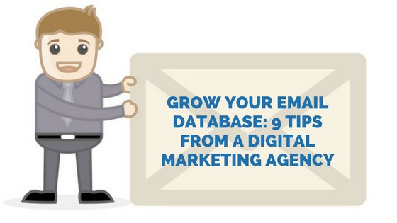 Grow Your Email Database: 9 Tips From a Digital Marketing Agency  http:// bit.ly/2wgtgv1  &nbsp;   #digitalmarketing #leadgeneration <br>http://pic.twitter.com/IUX0ST9u3W