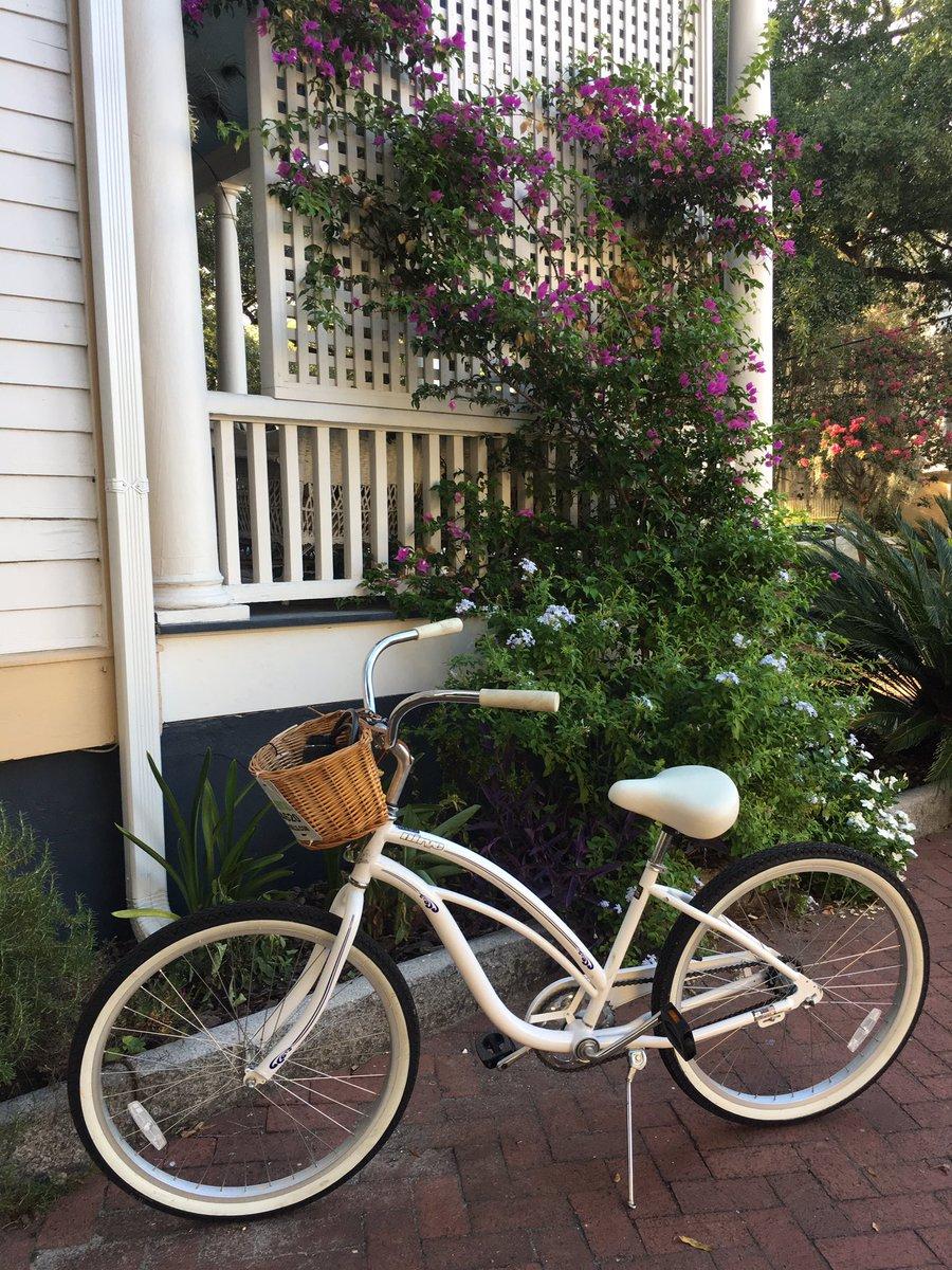 Love discovering beautiful little corners like this one all around Savannah! @VisitSavannah #cruiser #summerflowers <br>http://pic.twitter.com/I2ZcaTKLiZ
