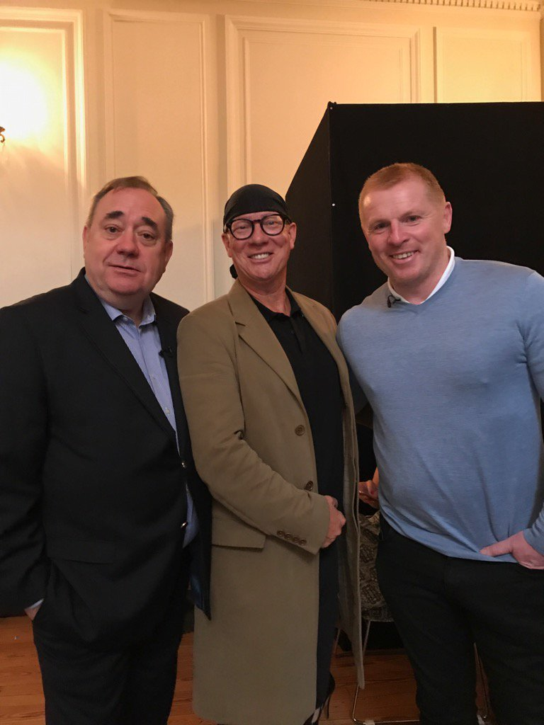 Great wee afternoon with my two pals @AlexSalmond and @lennon__18 . Neil was Alex' guest today…absolutely brilliant!!