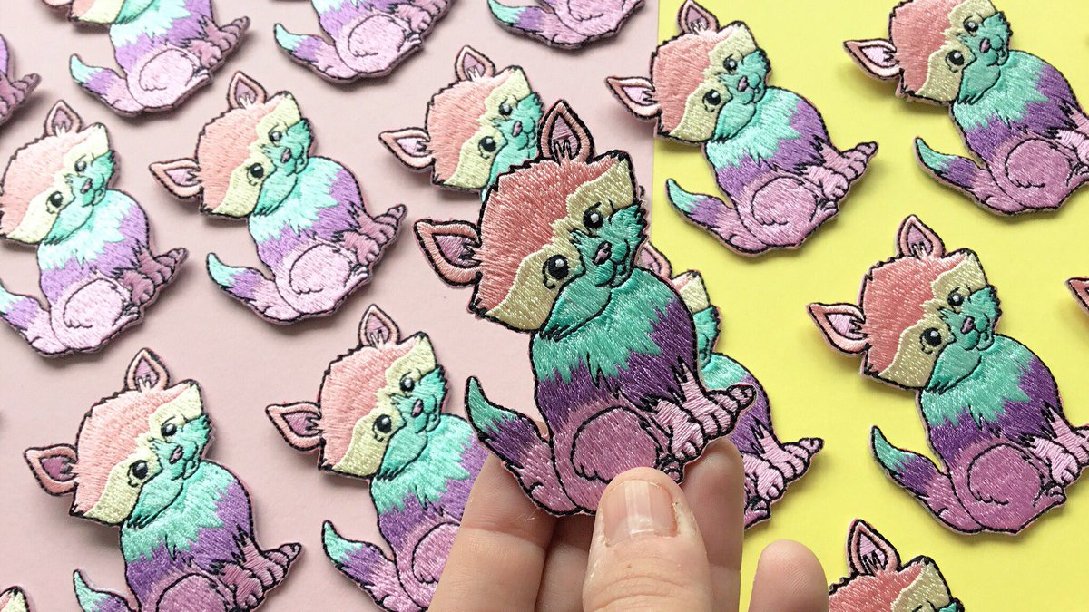 Brighten your day. Rainbow Cat patches now in the shop  http:// gemsville.etsy.com  &nbsp;   #crafthour #cat #rainbow #patch #accessories #etsy<br>http://pic.twitter.com/SFF2GTBw0A