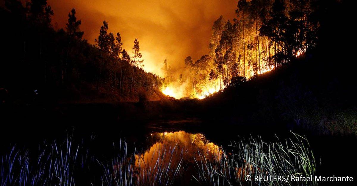 Un hélicoptère qui combattait les flammes au Portugal s'est écrasé, tu...