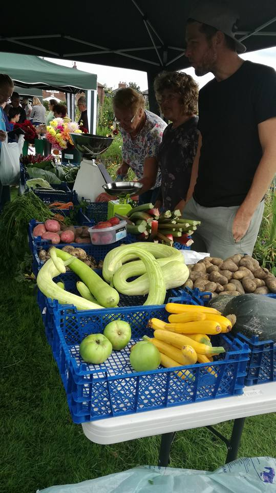 Our summer harvests @GP_allotment on sale to the public at our open day today during #nationalallotmentweek <br>http://pic.twitter.com/gQsLpexBmq