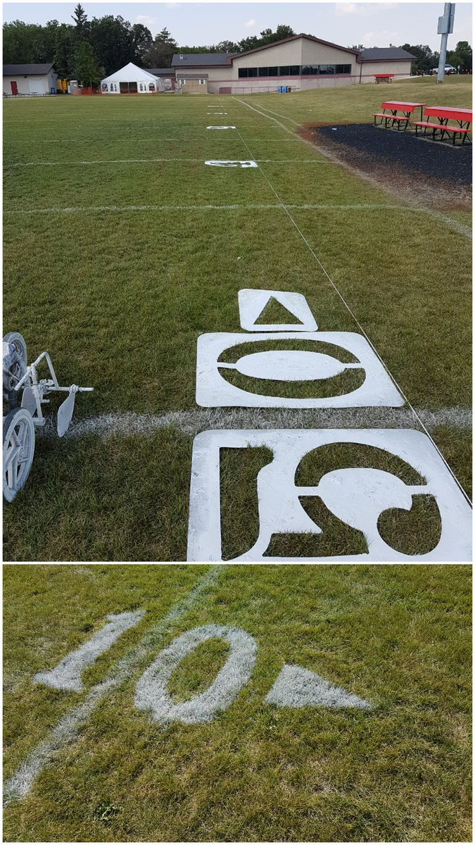 Good luck to the @WinnipegRifles in their home opener! Was hapoy to help out with getting the field ready for gameday. #Football #Winnipeg<br>http://pic.twitter.com/MDfHmRYI5e