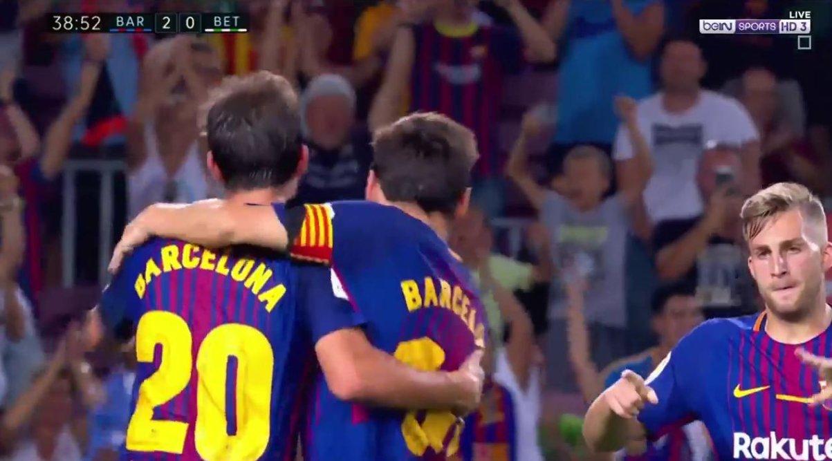 الهدف الثاني لفريق برشلونة