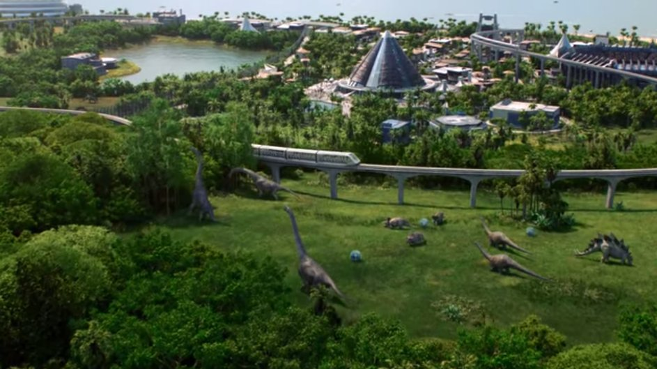 Jurassic World Evolution is a theme park building game coming in 2018...