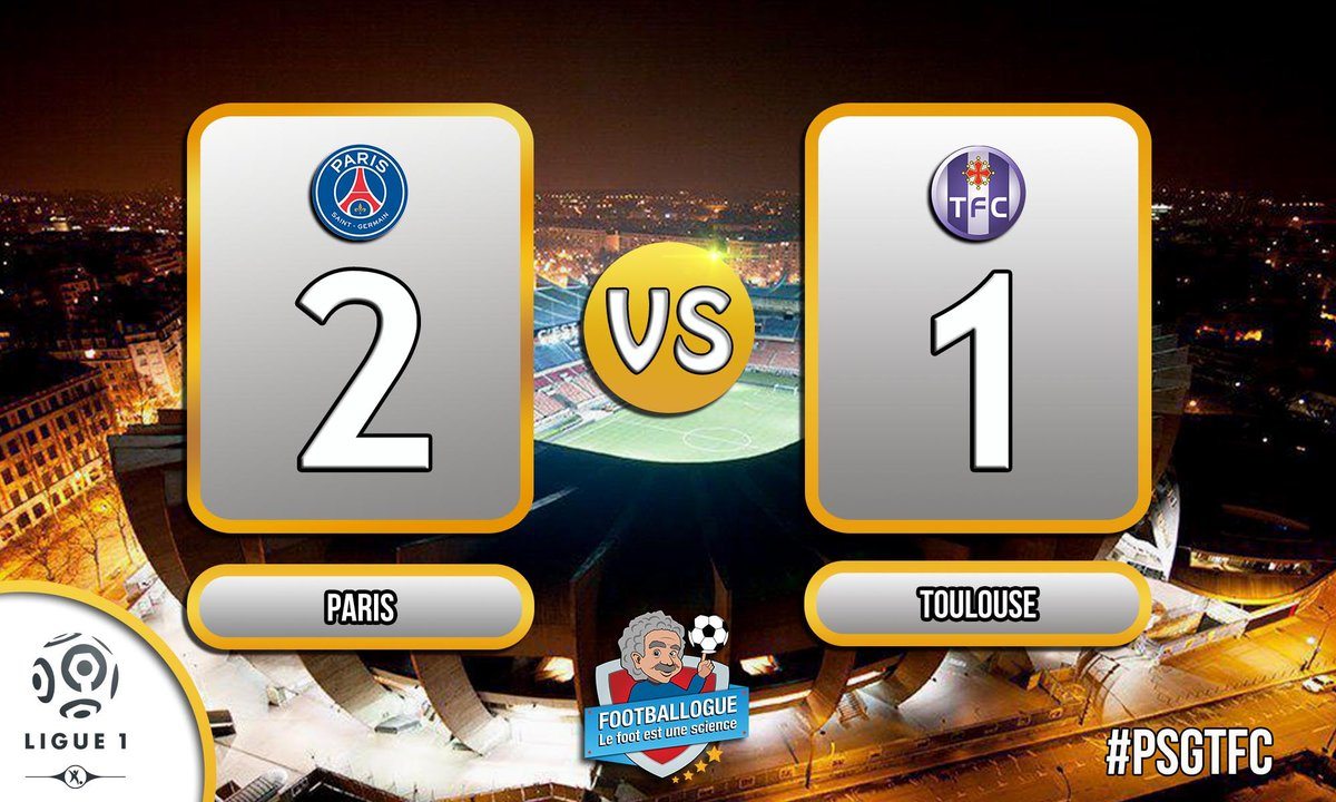 [#L1] PARIS - TOULOUSE  MI-TEMPS !  Neymar 31&#39;  |    Gradel 18&#39;  Rabiot 35&#39;   #PSGTFC<br>http://pic.twitter.com/0Grps2hU6e