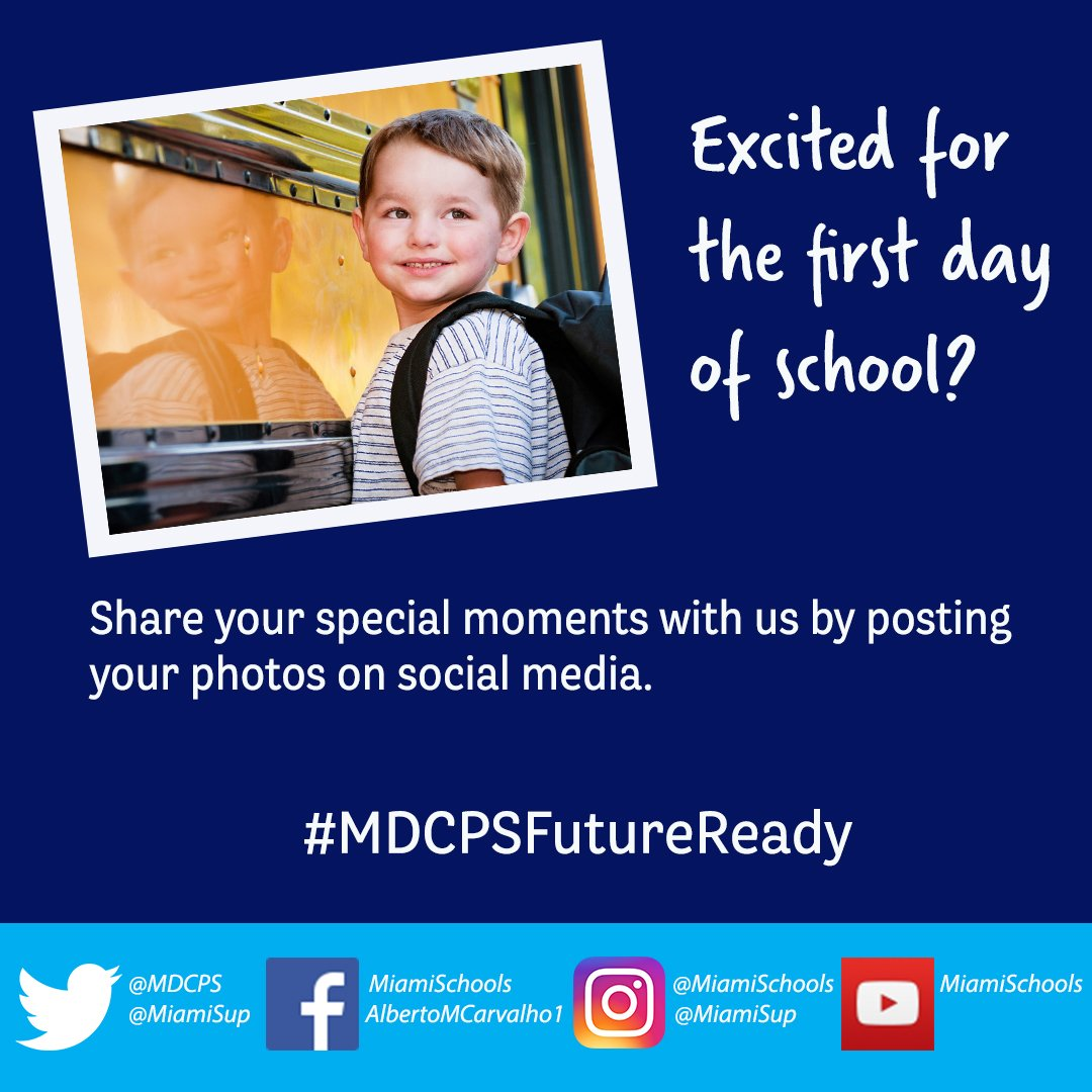 We are so excited to begin the 2017-2018 school year! Are you? #MDCPSF...