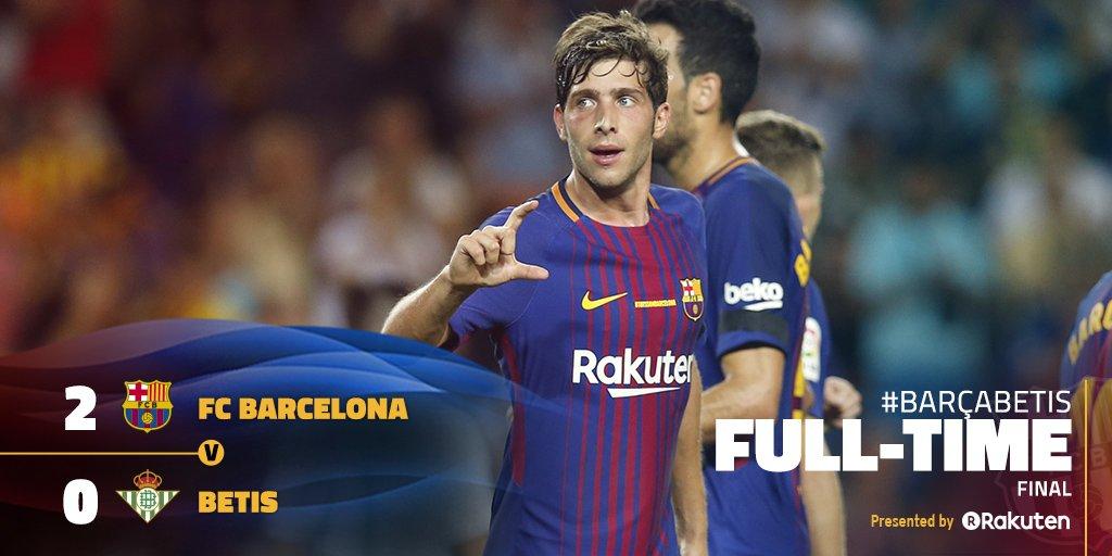 ⏰ ¡Final del partido en el Camp Nou! FC Barcelona 2-0 Betis 🔵🔴 #BarçaB...