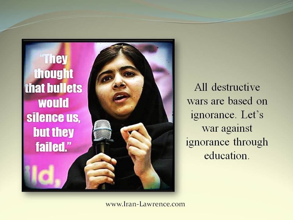 All destructive #wars are based on #ignorance. Let's war against ignorance through #education.<br>http://pic.twitter.com/mGLwF78VCT