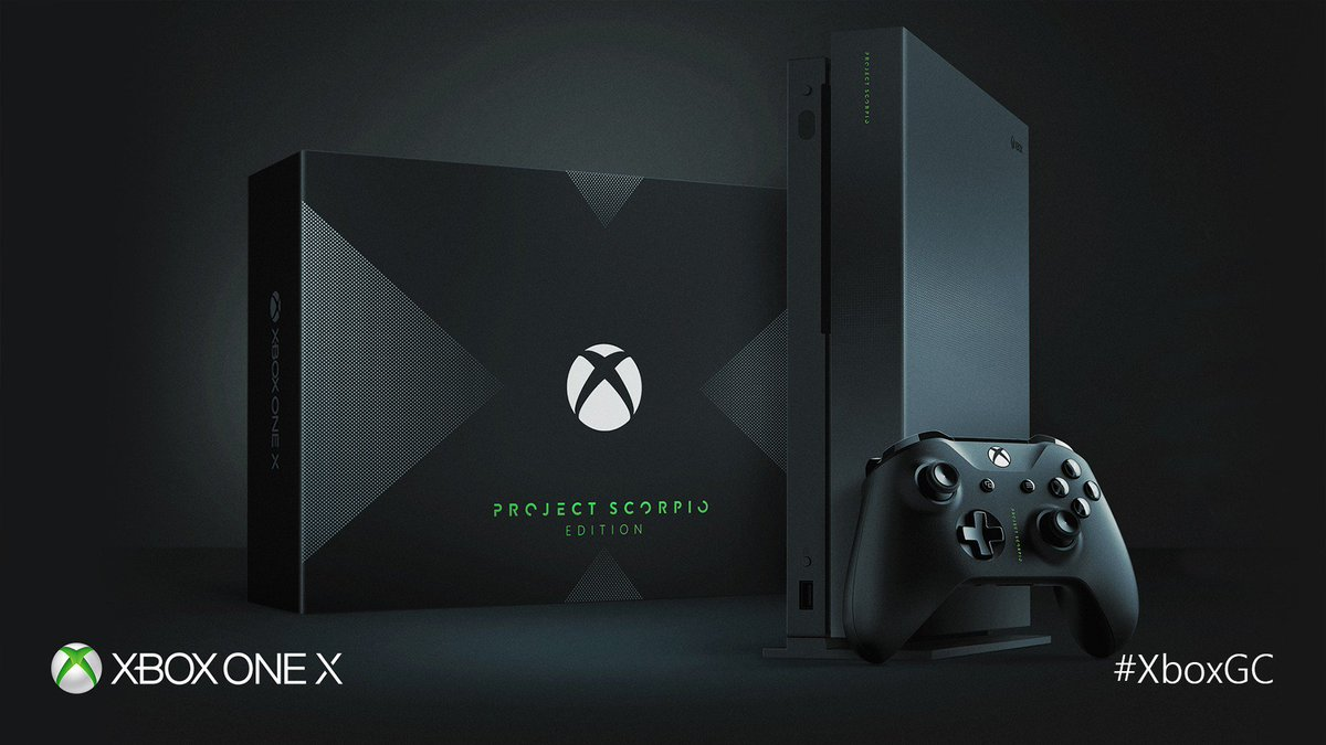 Custom design. Limited edition. Get the Project Scorpio #XboxOneX befo...