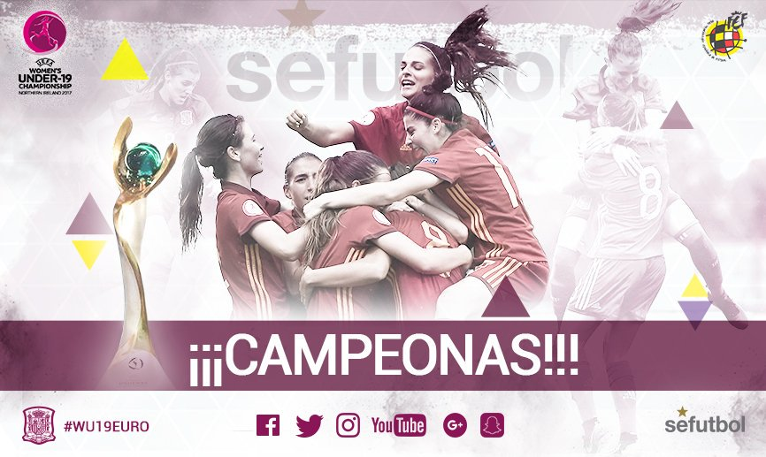 🎉🎉 YES! YES! YES!!! We are #WU19EURO CHAMPIONS!! RT if you are proud o...