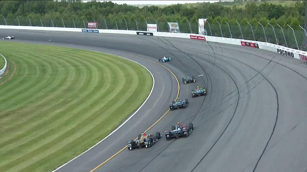 REPLAY: @Hinchtown and @JRHildebrand make contact in turn 1. #INDYCAR...