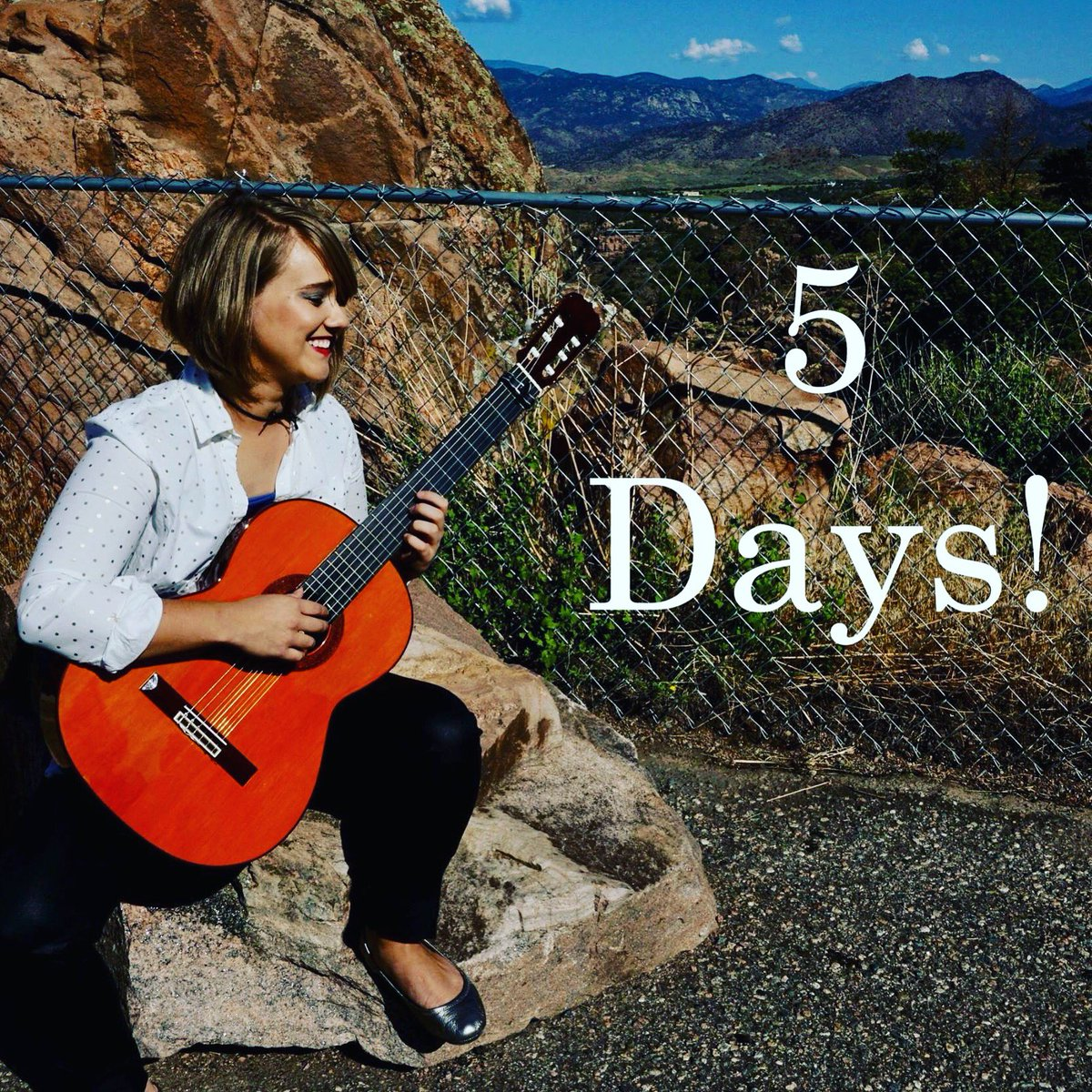 Cheesin&#39; cause we have 5 DAYS till the big release! #TheGiftOfHope #Promo #ClassicalGuitar #ReadySetGo<br>http://pic.twitter.com/q4Sir0olYo