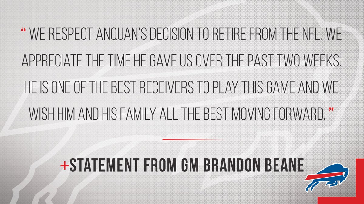 Statement from GM Brandon Beane on Anquan Boldin. https://t.co/G8k6Tx0...