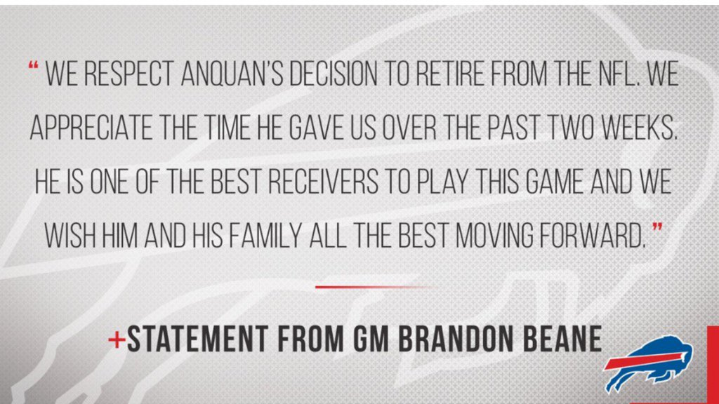 Bills' reaction to Anquan Boldin's retirement: https://t.co/5c5pLo9rlv