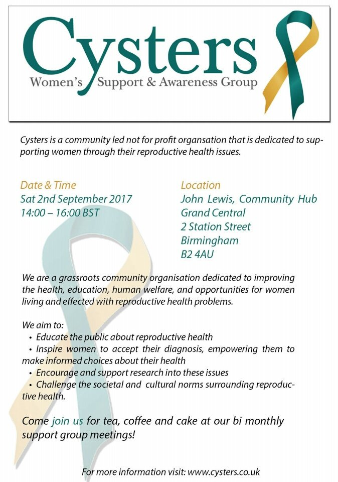 Would anyone be able to sponsor some cakes/cupcakes for our ladies support meeting @cystersbham ♡ #rt #charity #womenshealth #taboo #support<br>http://pic.twitter.com/hfqElAJ7HP