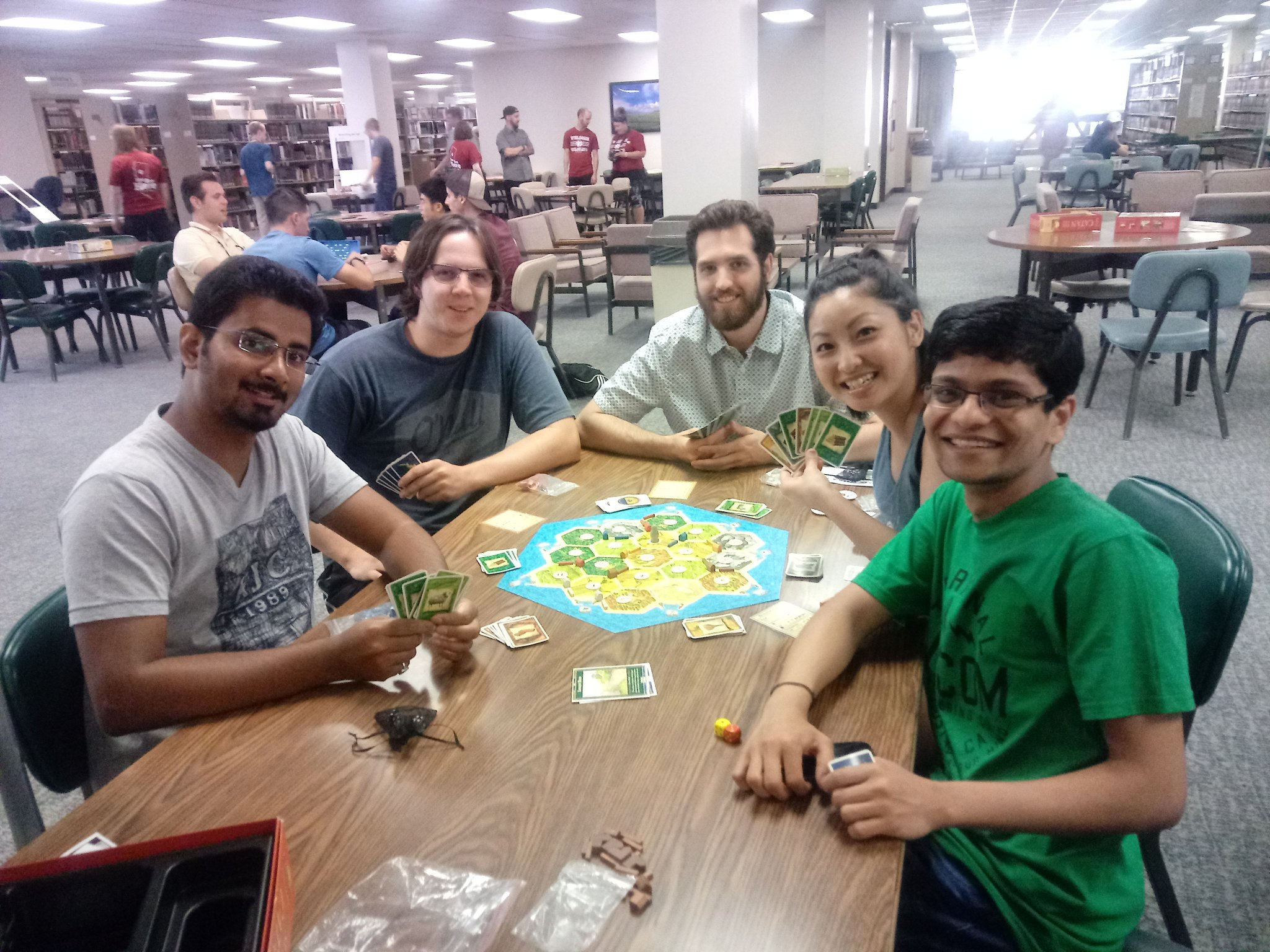 Settlers of Catan is happening! #MeriamGameNight #ChicoWW https://t.co/jfVagLYulC