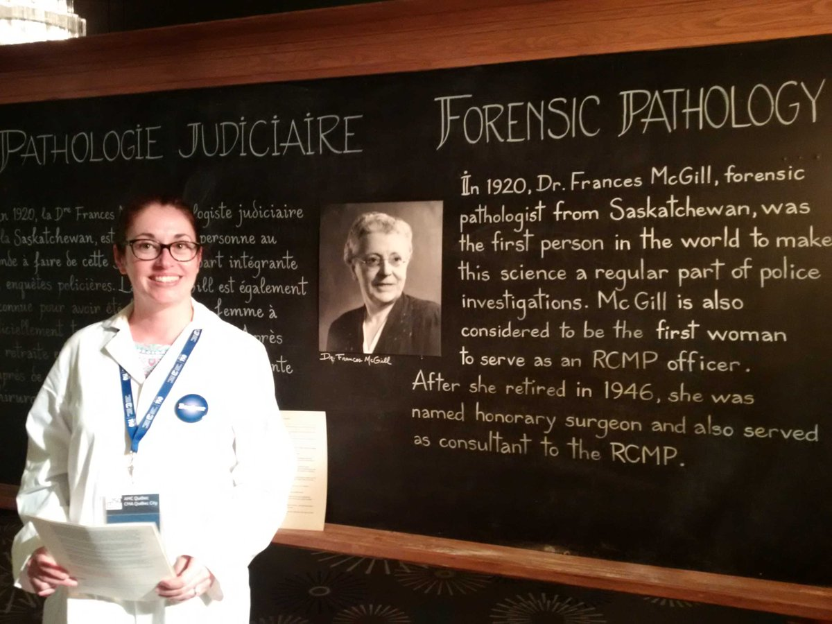 Beth Hickey teaches us bout DrFrancesMcGill forensic pathologist 1st w...