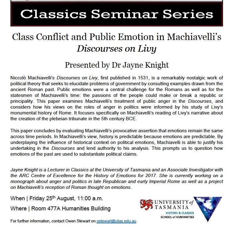 machiavelli discourses analysis