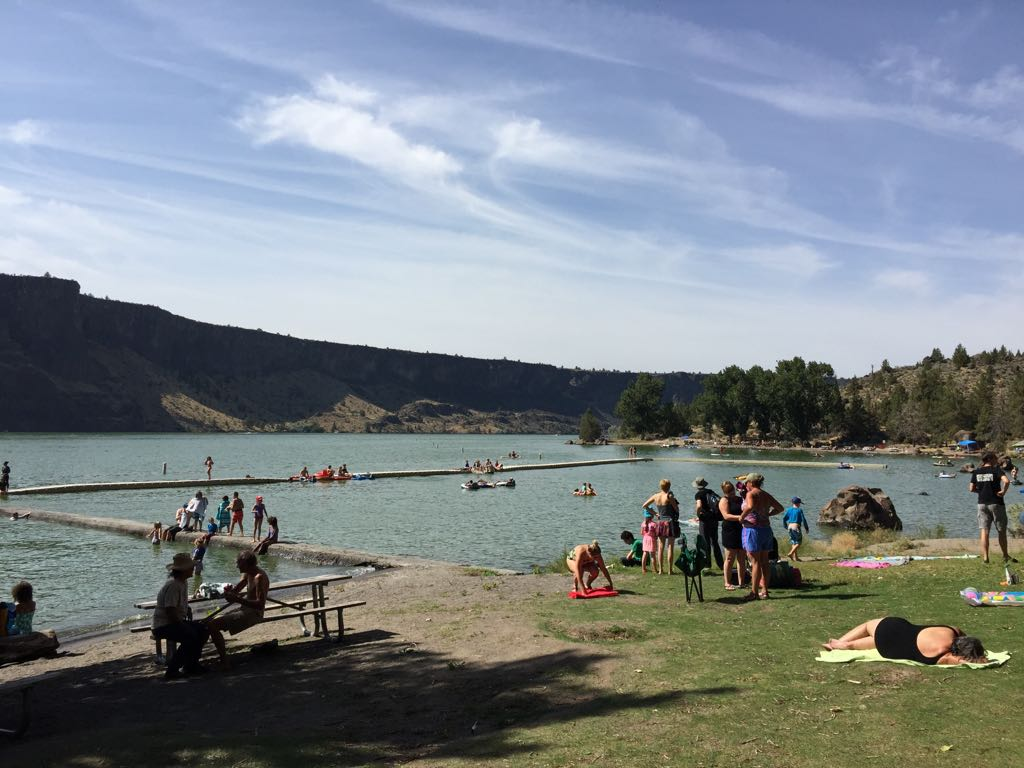 Quick visit to the Cove Palisades State Park to cool down after setting up camp for the eclipse tomorrow #UoPacific  #Eclipse2017 https://t.co/aNkzWT5Car