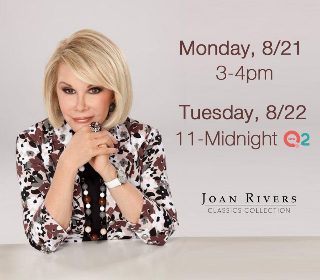 Tune in this week on @QVC for the Joan Rivers Classics Collection! https://t.co/76wUcKEpx6
