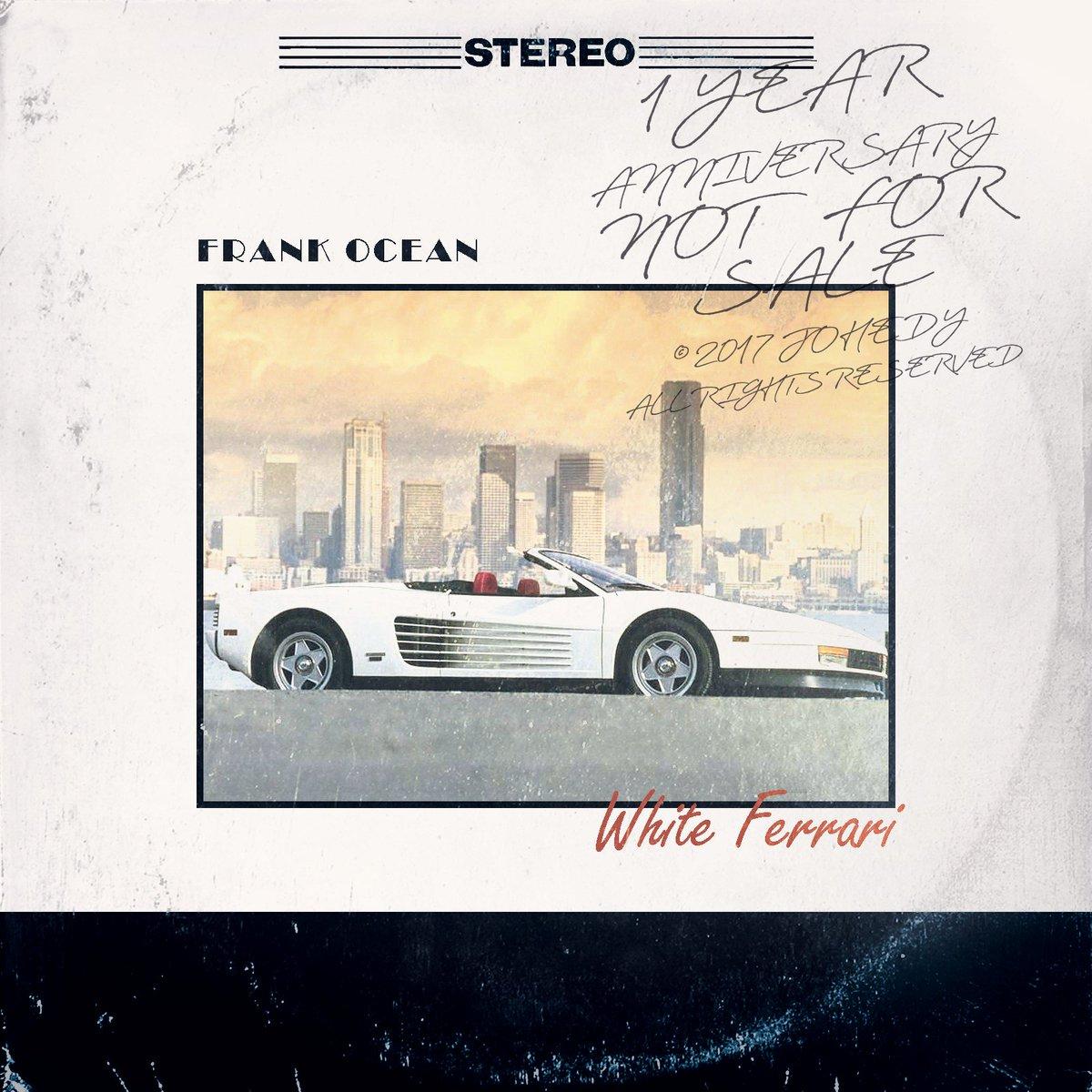 On Twitter 1 Year Later Frank Ocean White Ferrari Alternative Artwork Vinyl Edition Made By Yours Truly Blonde Frankocean Whiteferrari Https T Co Cb3pvwpxnz
