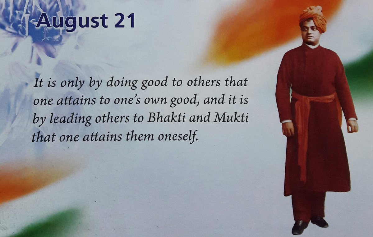 It is only by #doing #good 2 #others that one #attains 2 one&#39;s #own good, and it is by #leading others 2 #Bhakti &amp; ...  --Swami #Vivekananda<br>http://pic.twitter.com/CGZ6WAGVHl