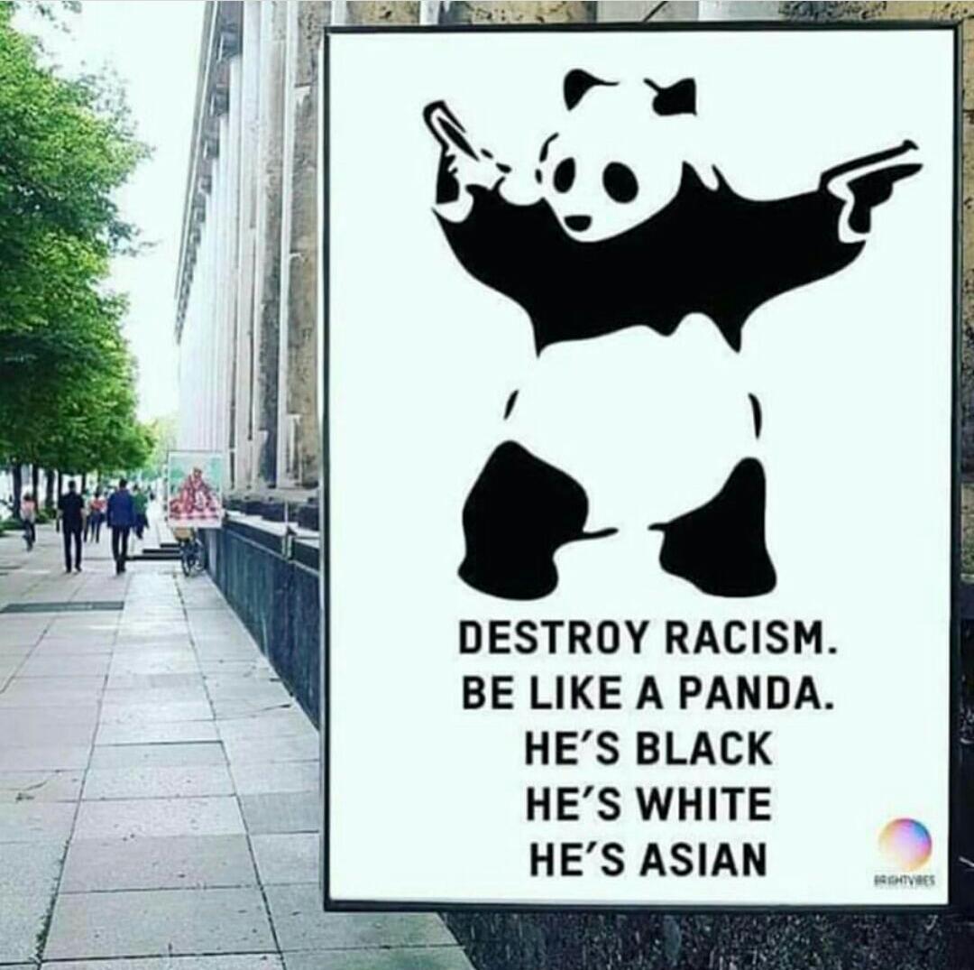 Destroy #Racism! Be like a #Panda: He's...